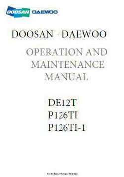 Doosan DE12T workshop manual p1