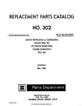 EMD 645 parts book #302 p1