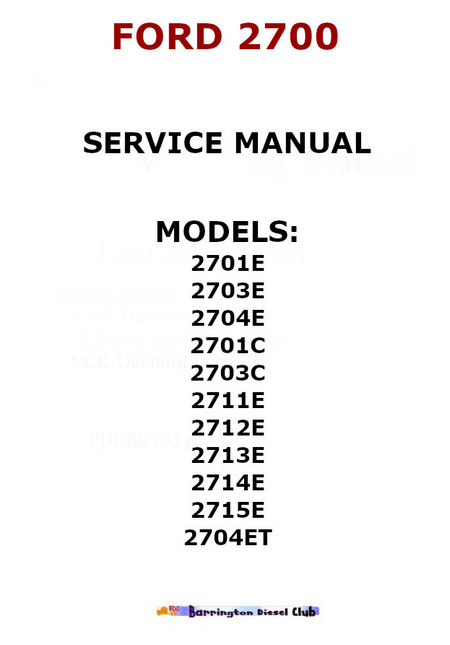 Ford 2700 engines service manual p1