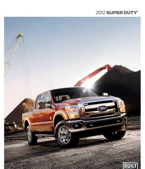 Ford F250 F350 F550 Super Duty booklet p1