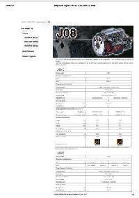 Hino J05E JO8E Spec Sheet p1
