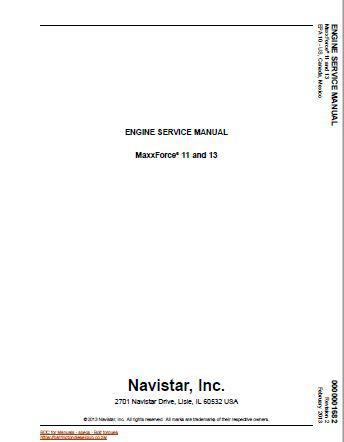 Maxxforce 11 and Maxxforce 13 engine service manual