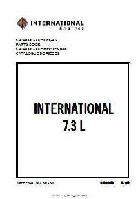 IH T444E 7.3 liter Engine parts book p1