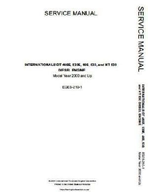 IH INTERNATIONAL Navistar DT466, DT530, HT530 Engine Service Manual p1