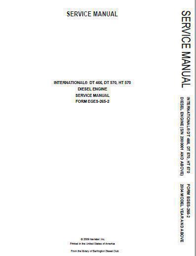 IH 466 Engine workshop repair Manual p1