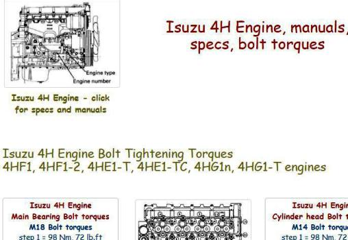Isuzu Diesel Engine Specifications – mechaniker