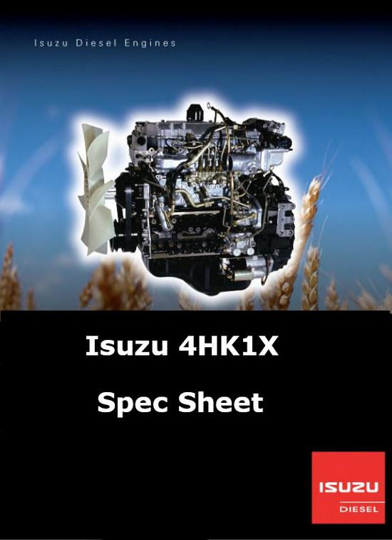 Isuzu 4HK1x Diesel Engine Spec Sheet p1