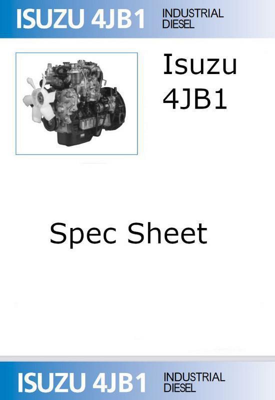 image isuzu 4jb1 spec sheet