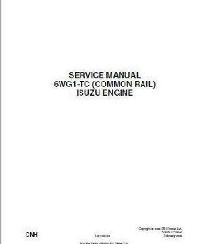 Isuzu 6WG1-TC Engine workshop Manual p1