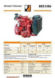 Iveco 8031 Genset engine spec sheet