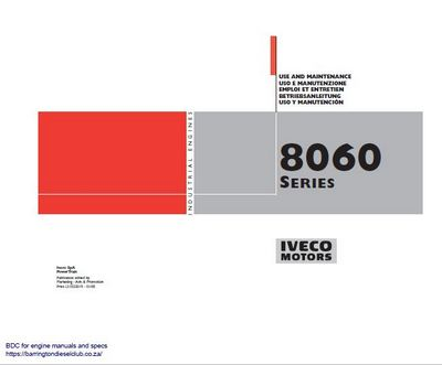 Iveco 8060 series industrial engine user manual p1