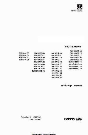 Iveco 8031, 8041, 8061 marine workshop manual