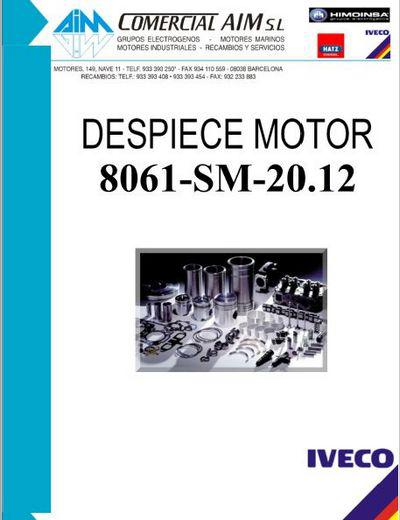 Iveco 8061 despiece motor parts