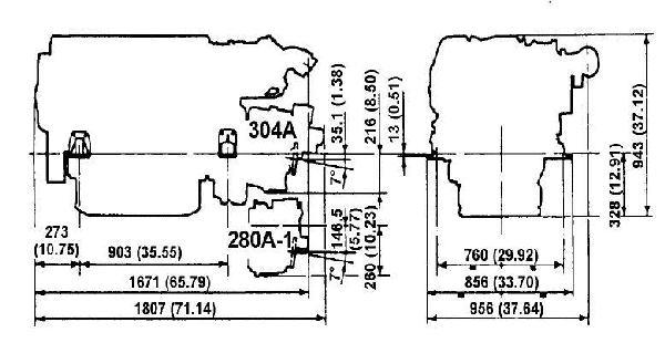 Iveco Cursor c78 approx dimensions