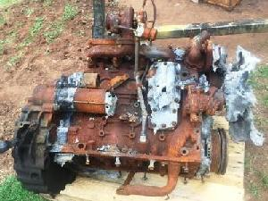 Iveco NEF engine model F4GE after fire and weathering -1
