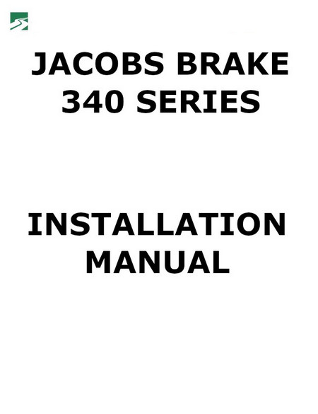 Jacobs Brake manuals for Caterpillar engines