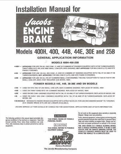 Jacobs tune-up for models 25b, 30e, 44b - 400 and 400h p1 of 16 pages
