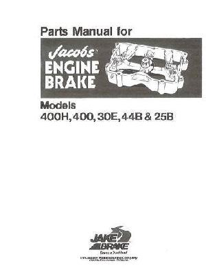 Jacobs for Cummins Jakes models 25, 30, 44 and 400 p1 of 6 pages
