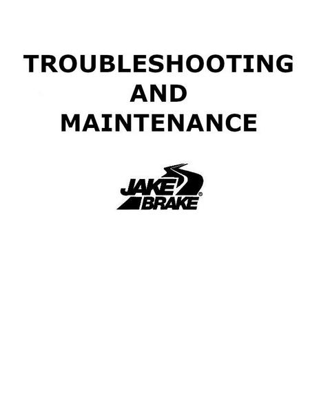 Jacobs troubleshooting for Cat, Cummins, Detroit Diesel, Mack - p1