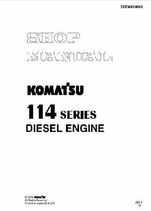 Komatsu 114 series manual p1