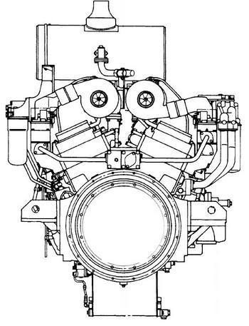 Komatsu 12v40 series engine