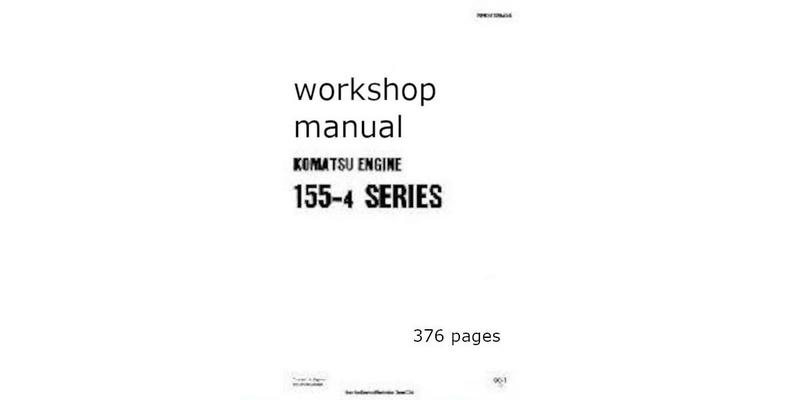 Komatsu 155-4 workshop manual p1