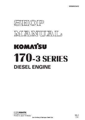 Komatsu 170 engine workshop manual p1