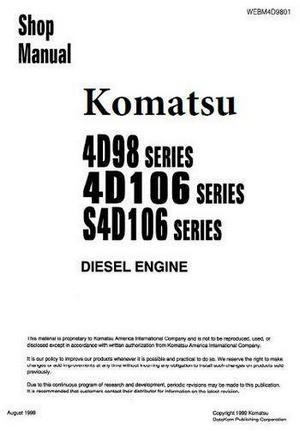 Komatsu 4D98, 4D106, S4D106  workshop manual p1