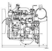 Komatsu 4D95 engine drawing