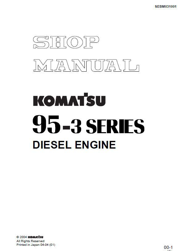 Komatsu 4D95D workshop manual p1