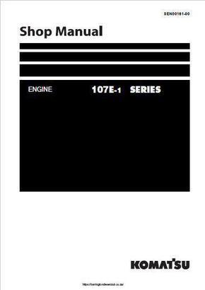 Komatsu 6D107E engine workshop manual p1