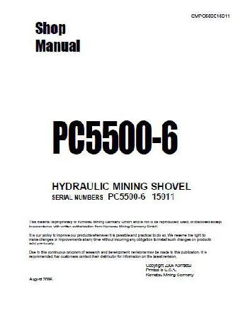 Komatsu PC5500 Shop Manual