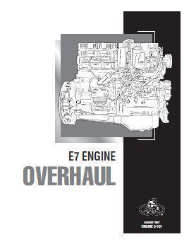 Mack E7 engine section of workshop manual