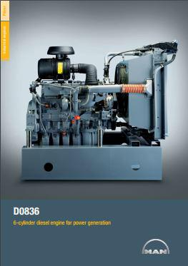 MAN D0836LE genset spec sheet