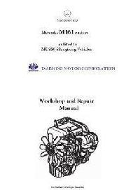 Mercedes M161 engine workshop repair and specifications manual p1
