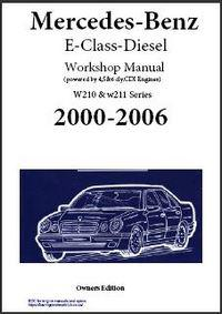 Mercedes-Benz W210 and W211 section of workshop manual