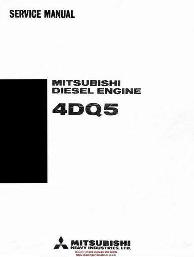 image Mitsubishi 4DQ5 service Manual p1