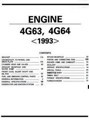 Mitsubishi 4g63 4g64 Engine Specs Bolt Torques Manuals