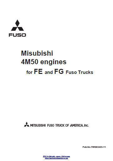 Mitsubishi 4M50 engine specs, bolt torques and manuals