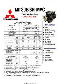 Mitsubishi 6D24 specs, bolt torques and manuals