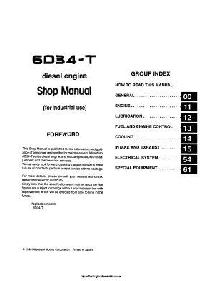 Mitsubishi 6D34 workshop manual
