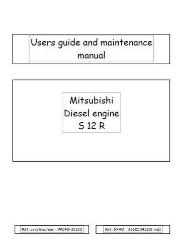 image Mitsubishi S12 user guide Manual p1
