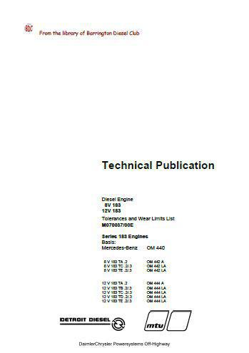 MTU 183 series, ADE440 off-highway specifications manual, p1