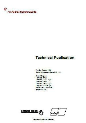 MTU 183 series, OM440 off-highway, workshop and maintenance manual p1
