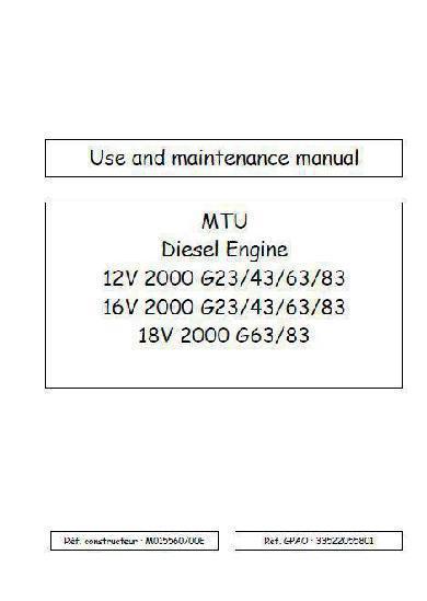 MTU 2000 workshop manual p1
