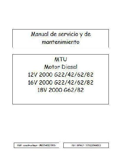 mtu service manual download