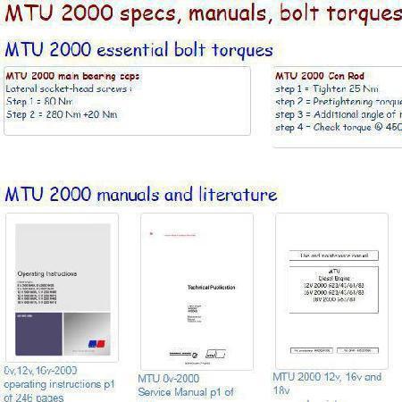 essential specs snip - MTU 2000 series engines