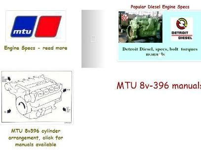 MTU 396 Specs and Manuals