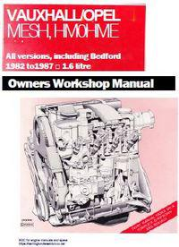 Opel 1.6 diesel engine section of workshop manual