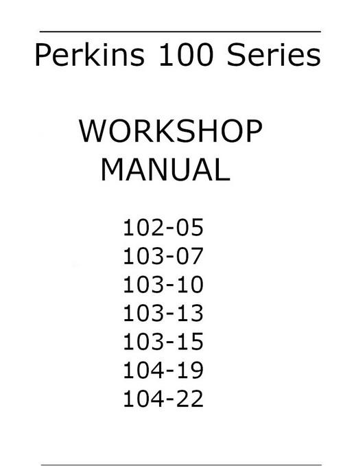Perkins 104-22 PDF workshop manual p1